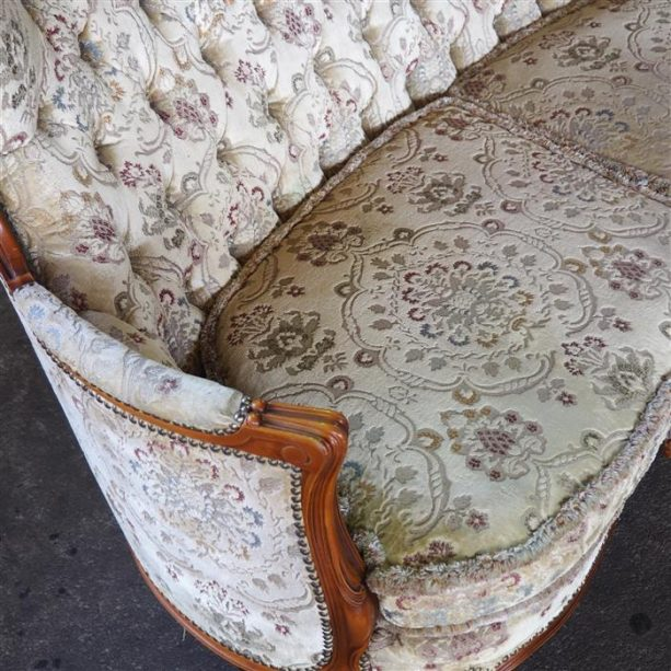 CHIPPENDALE COUCH 3-Sitzer