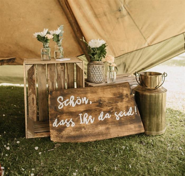 Yes Please Rentals Hochzeit Mietmobiliar Backdrop WillkommenDekoration mieten