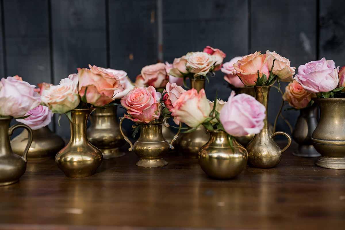 Yes Please Rentals Messing Deko Vasen Hochzeit Verleih Paket
